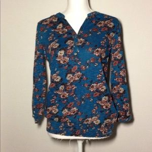 Lucky Brand New Floral Blouse Size Medium